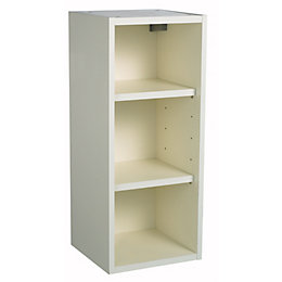Cooke lewis ivory wine rack wall cabinet w 150mm for Kitchen cabinets 50cm wide