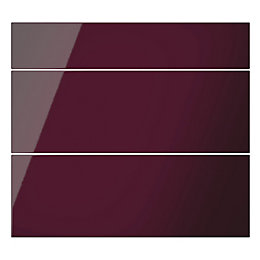 Cooke & Lewis Raffello High Gloss Aubergine Slab