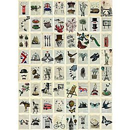 1Wall Encyclopedia & Dictionary 64 Piece Wallpaper Collage