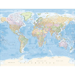 Map Of The World Wallpaper Mural