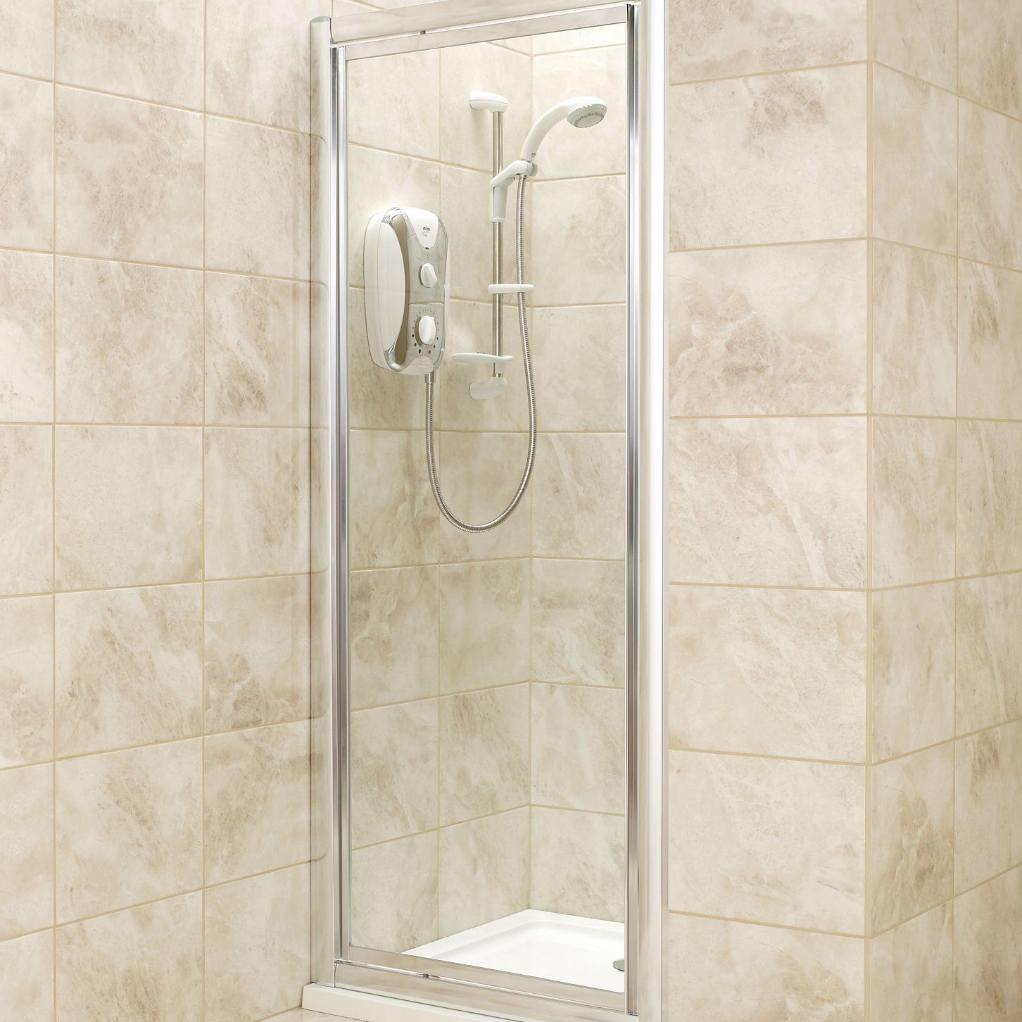 B Amp Q Square Shower Enclosure With Pivot Door W 760mm D