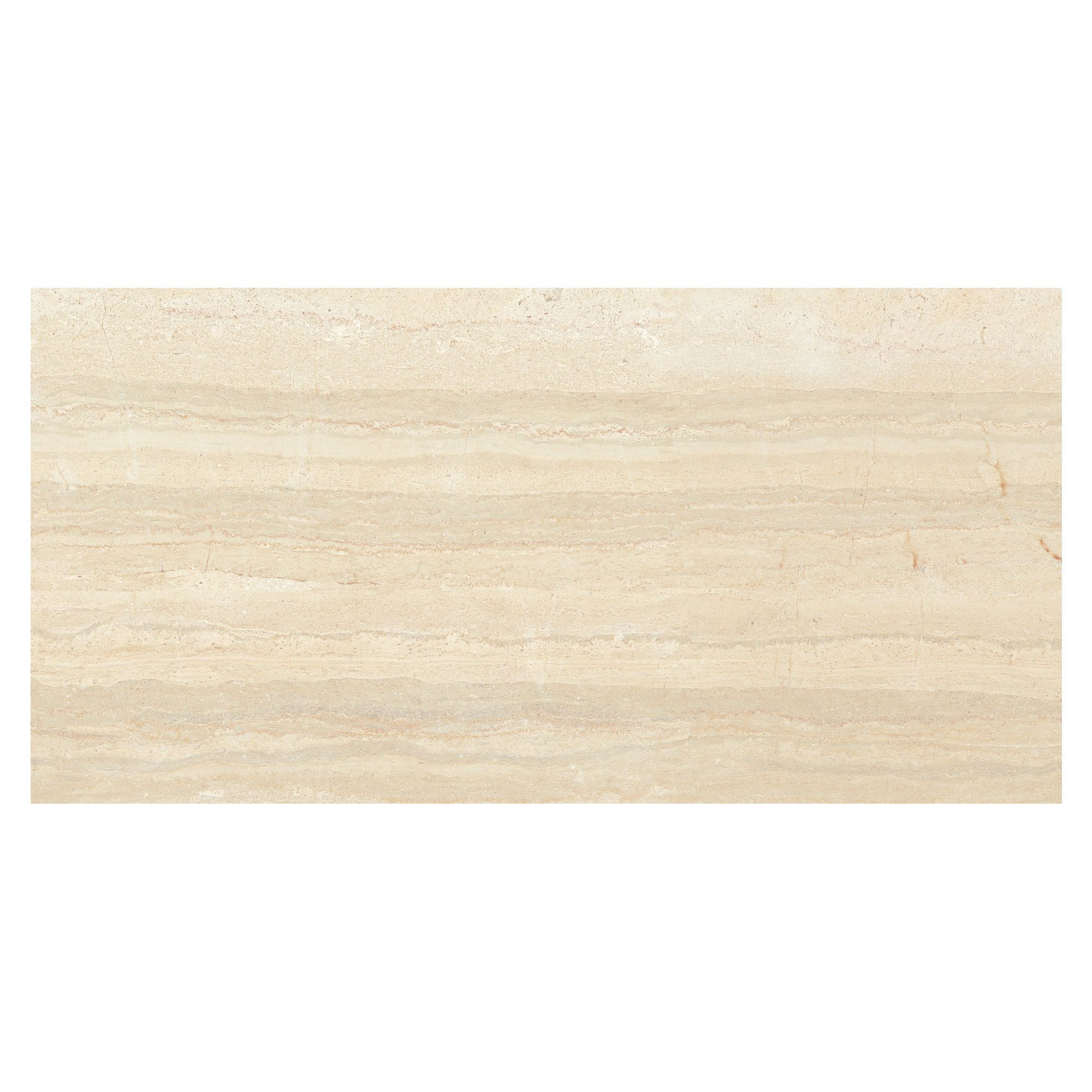 Neos Light Beige Wood Effect Ceramic Wall Tile, Pack Of 8, (l)500mm (w)250mm