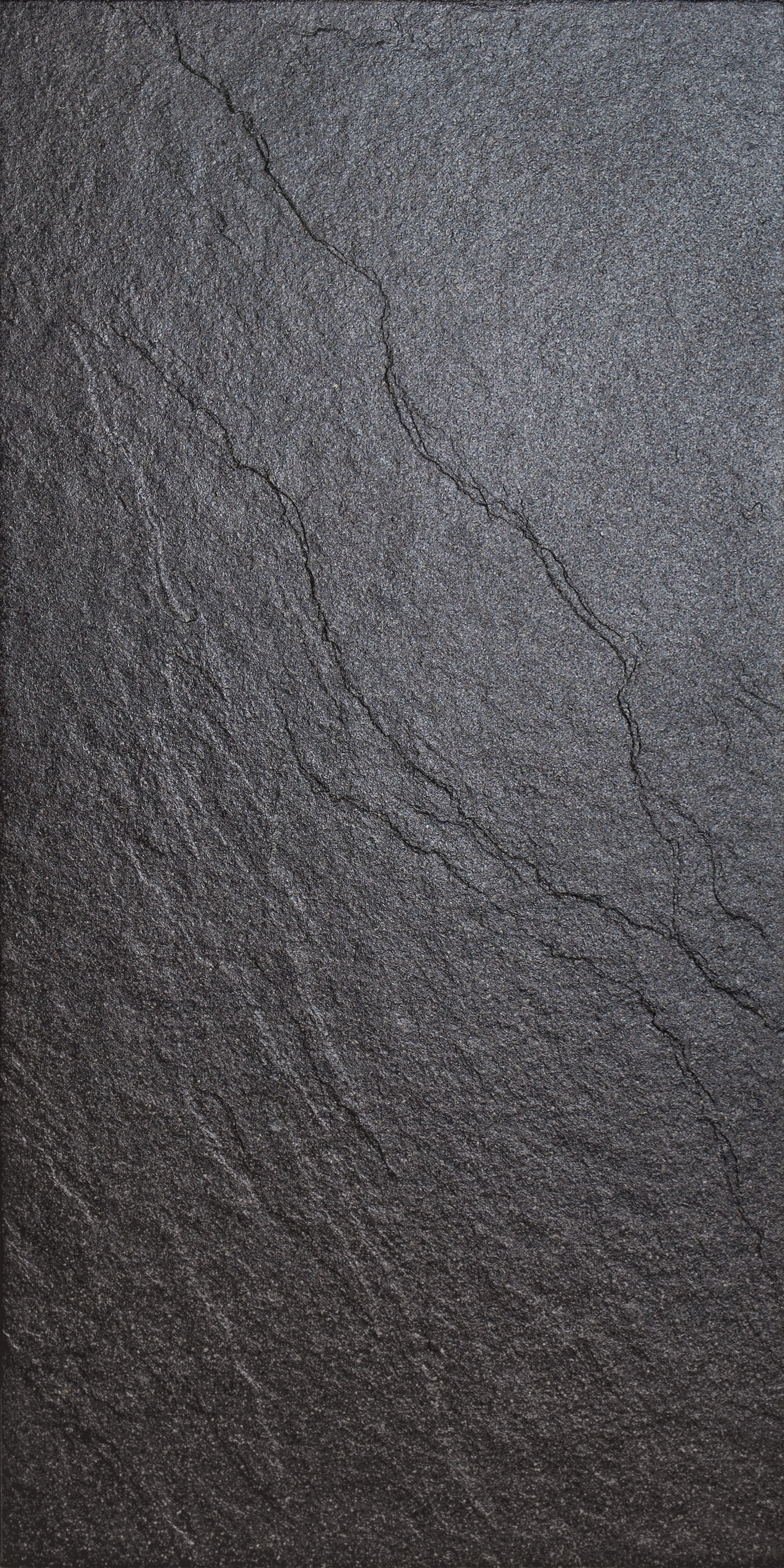 Magma Black Stone Effect Plain Porcelain Wall & Floor Tile, Pack Of 6, (l)600mm (w)300mm