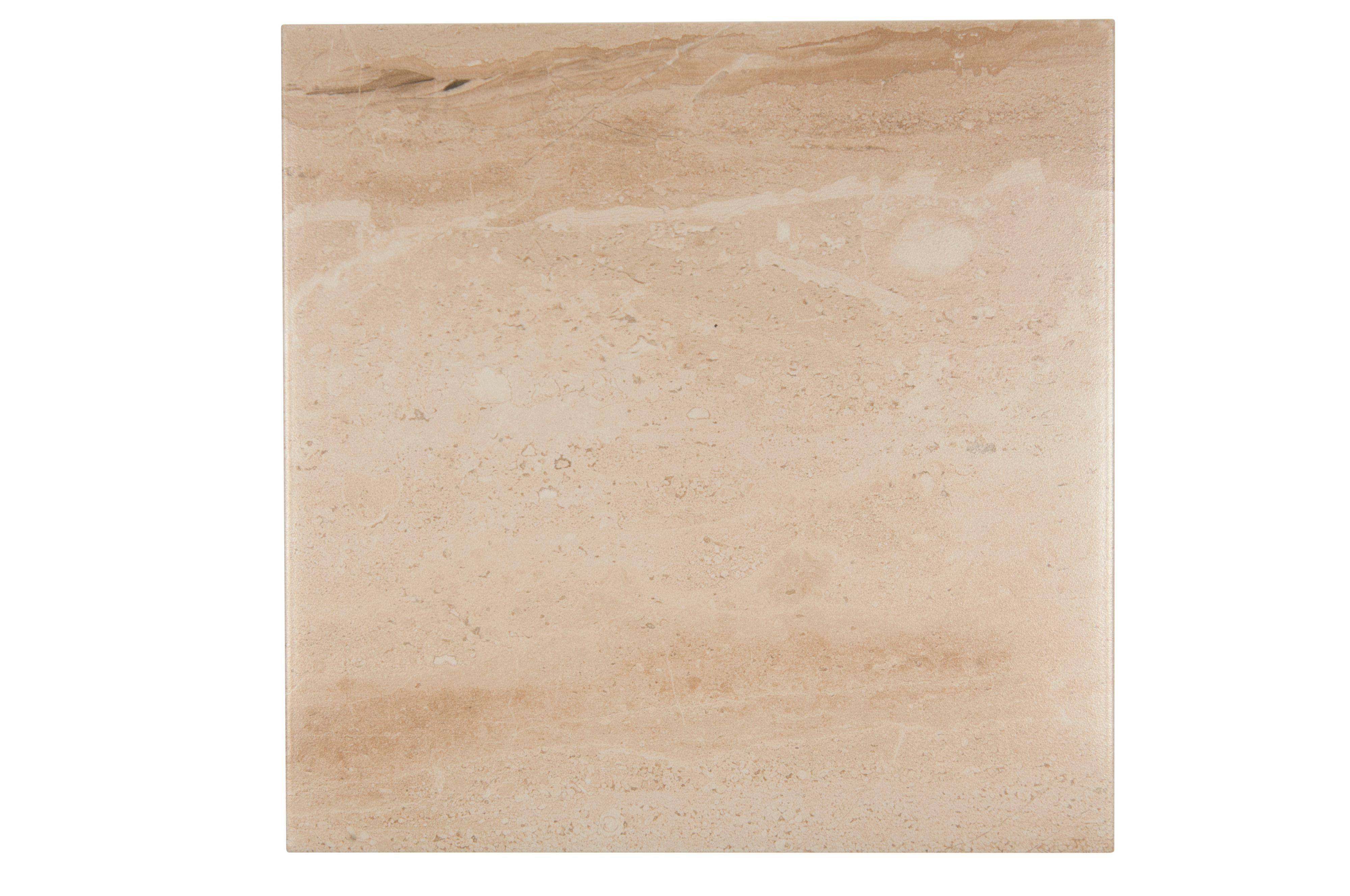 Bali Beige Stone Effect Porcelain Floor Tile, Pack Of 9, (l)333mm (w)333mm
