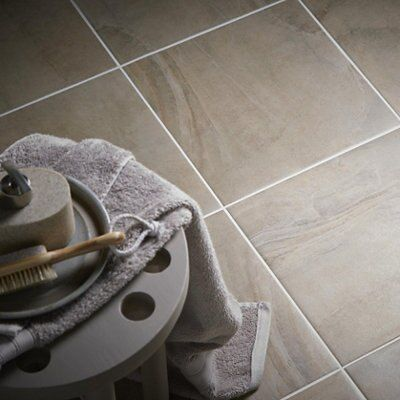 Granada Grey & Beige Porcelain Floor Tile, Pack of 9, (L)333mm (W)333mm
