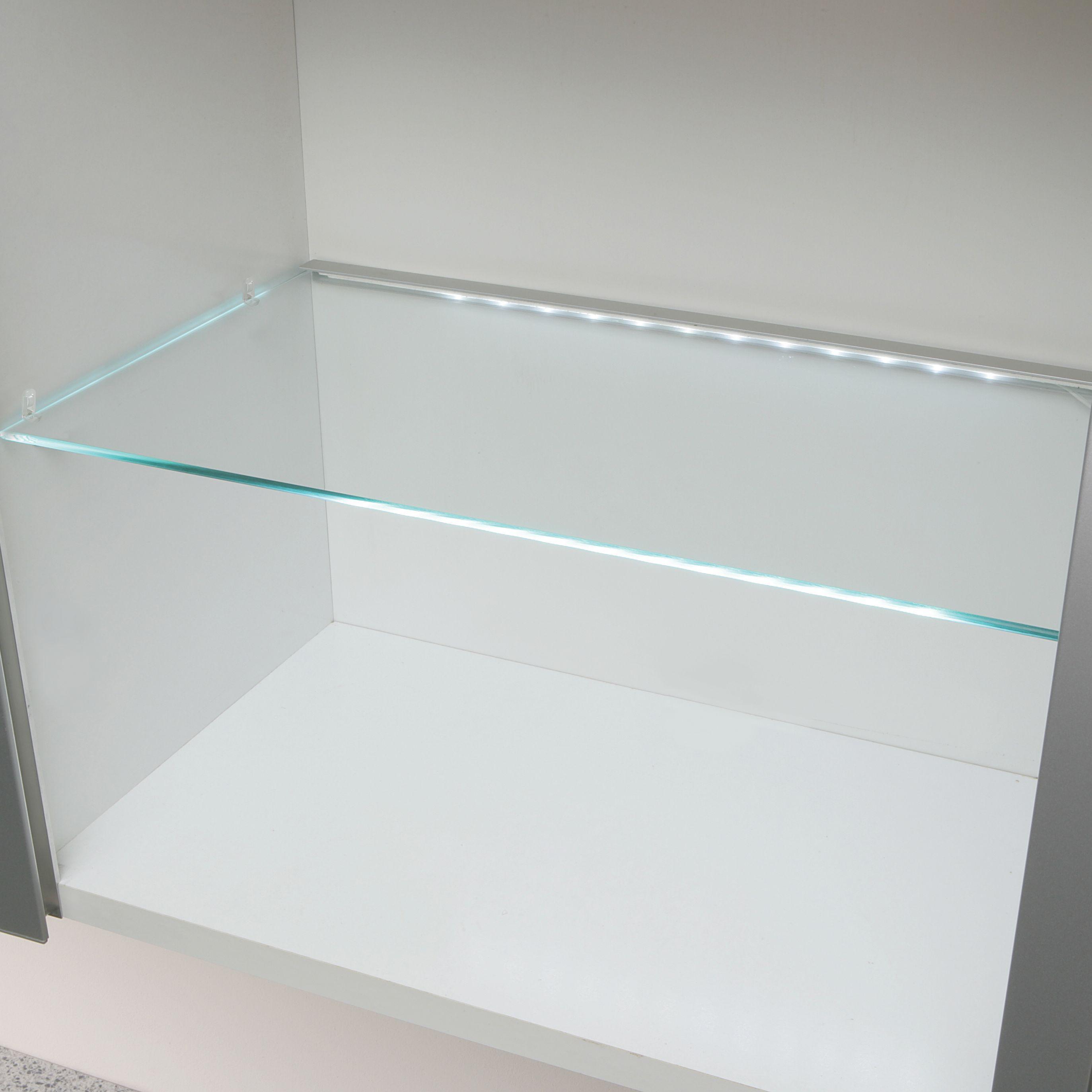 Clear Glass Cupboard Shelf (l)466mm (d)247mm
