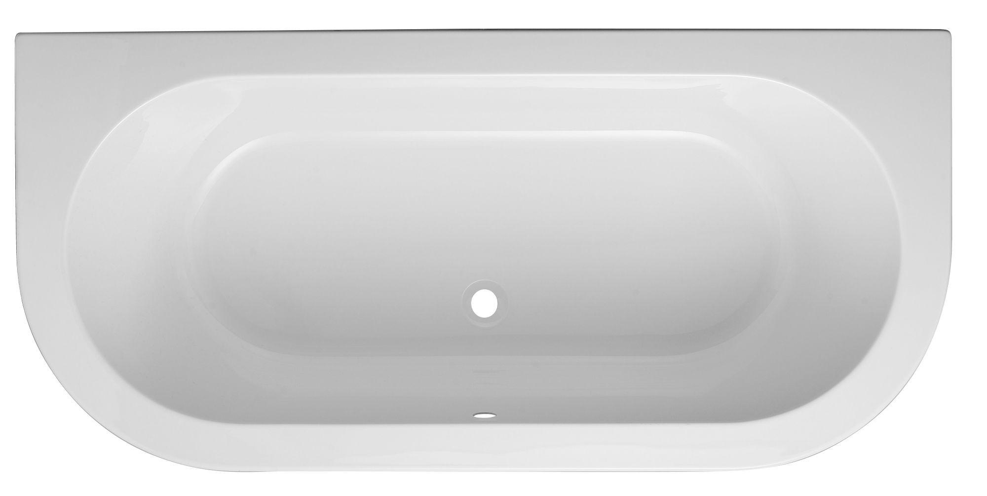 Bathroom Sinks B&Q Ireland cooke & lewis helena acrylic oval curved bath (l)1700mm (w)800mm