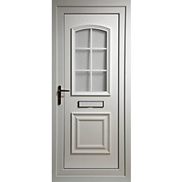 Georgian White PVCu Glazed External Front Door &