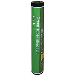 B&Q Green Super Shed Felt (L)8000mm (W)1000mm