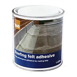 B&Q Black Roofing Felt Adhesive 1L