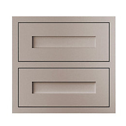 Cooke & Lewis Carisbrooke Taupe Framed Tower Drawer