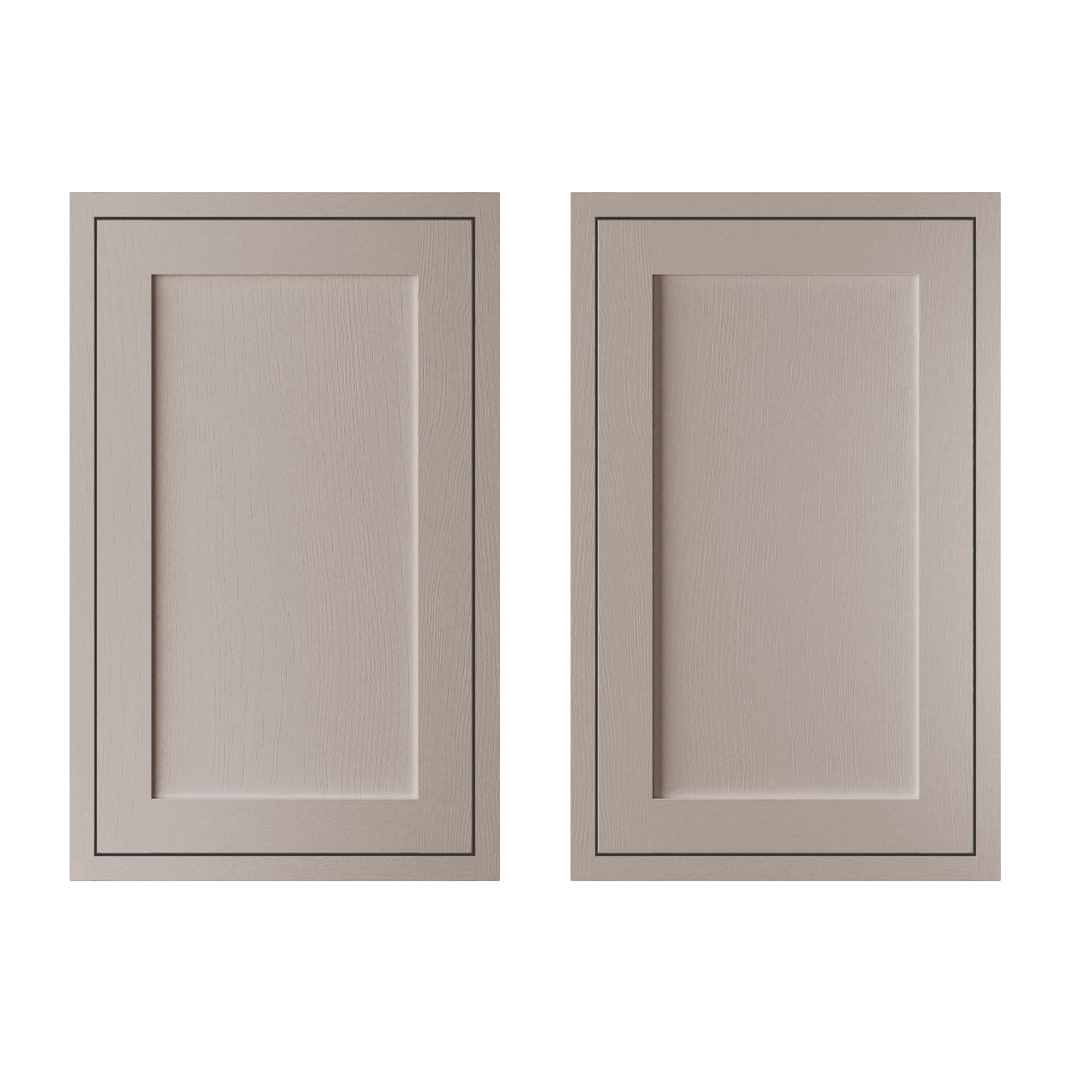 Cooke & Lewis Carisbrooke Taupe Framed Larder Door (w)600mm, Set Of 2