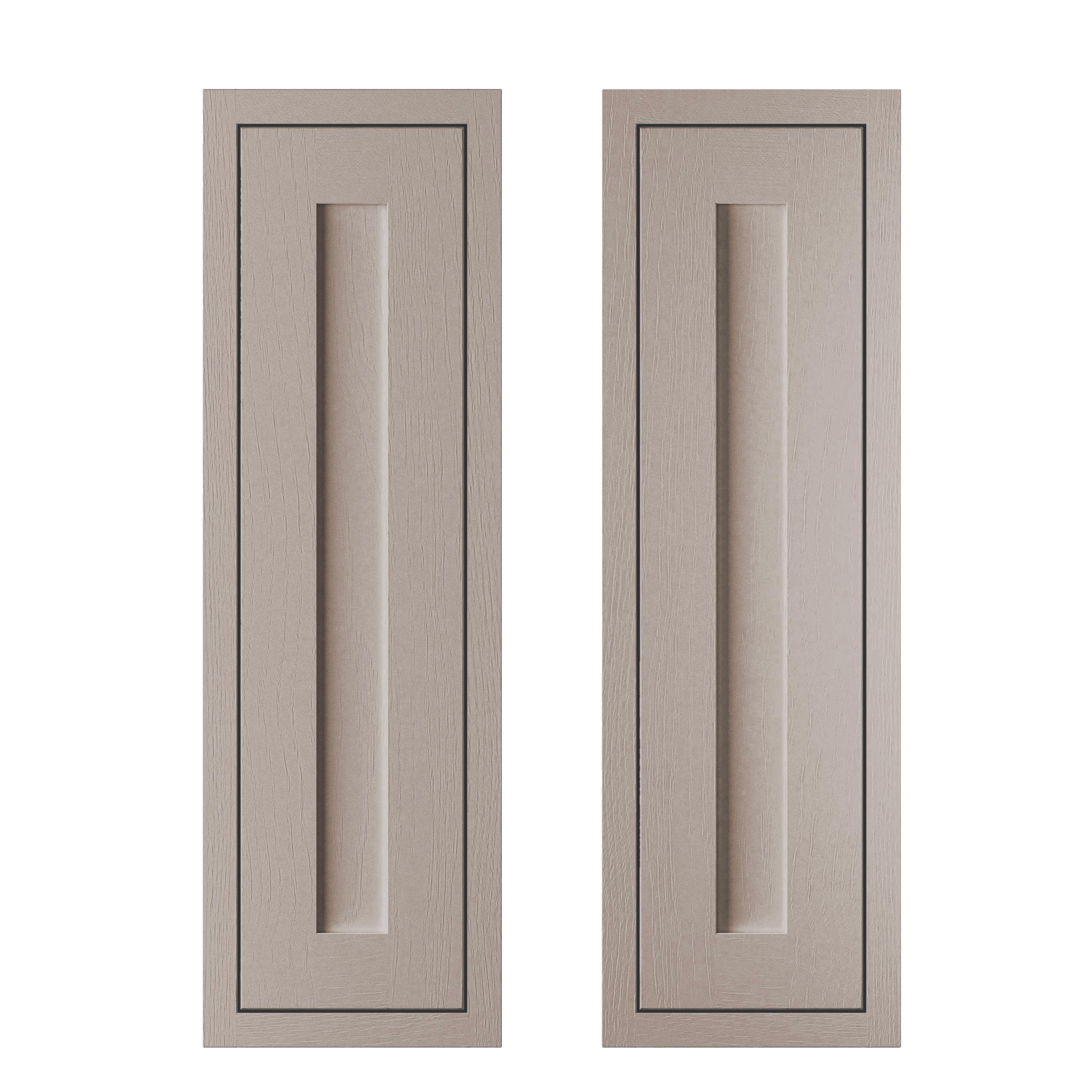Cooke & Lewis Carisbrooke Taupe Framed Larder Door (w)300mm, Set Of 2
