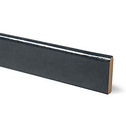 12mm Lunar Night Black Laminate Upstand