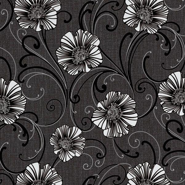 Diy at bq as creation liberty dark grey white floral wallpaper mightylinksfo