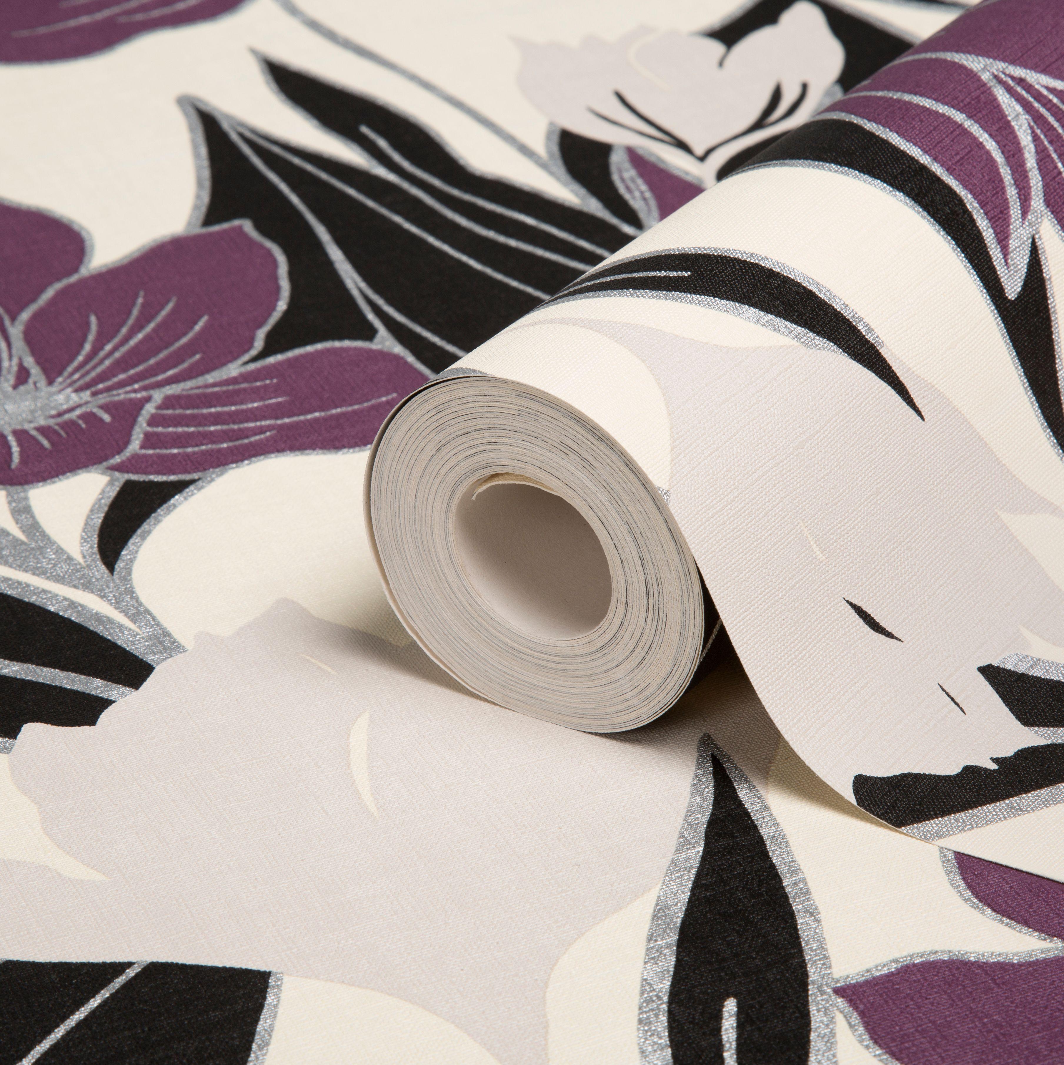 Purple Wallpaper For Bedrooms Purple Wallpaper Diy