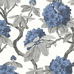 A.S. Creation Long Island Blue Floral Wallpaper