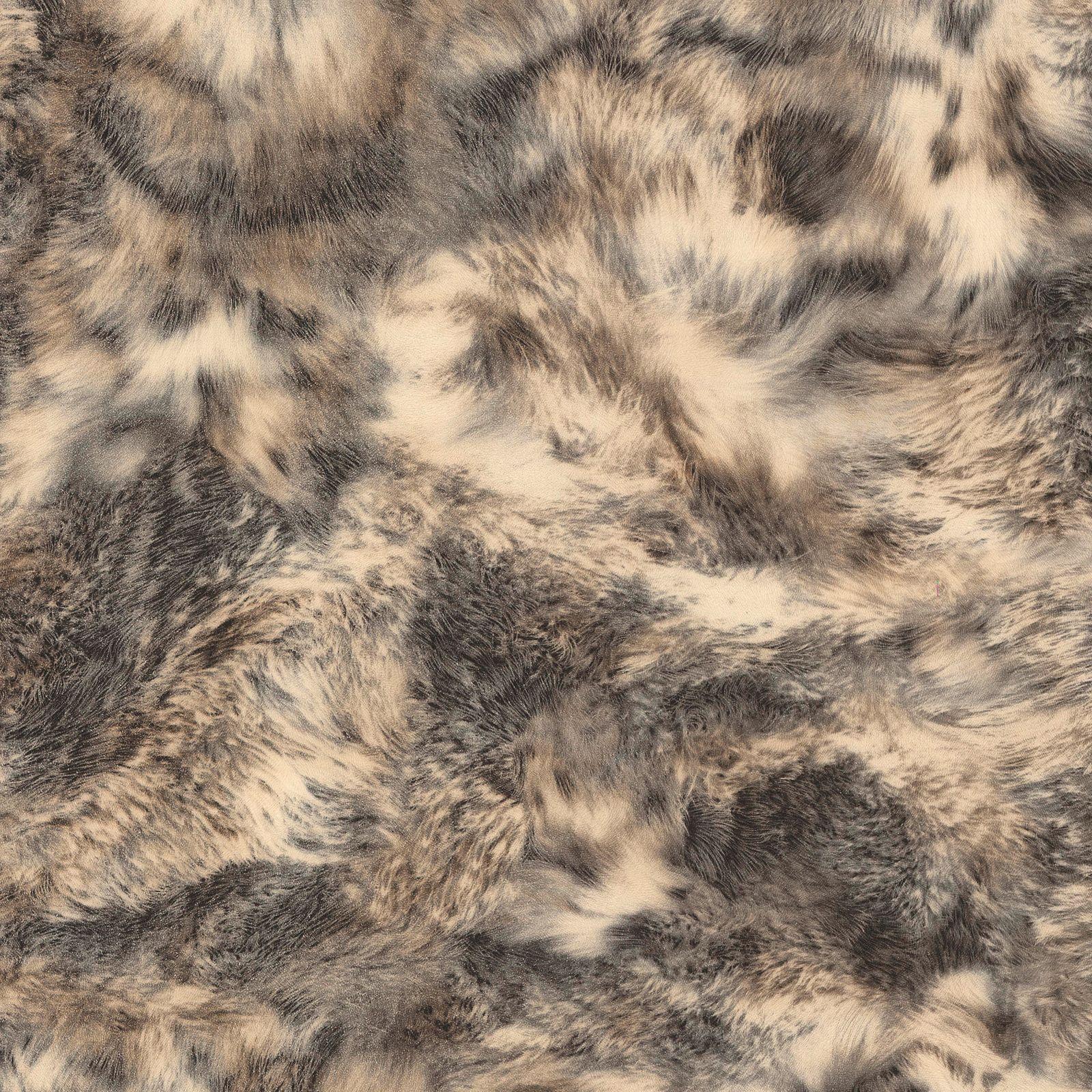 A S Creation Dekora Natural Beige Black Amp White Fur