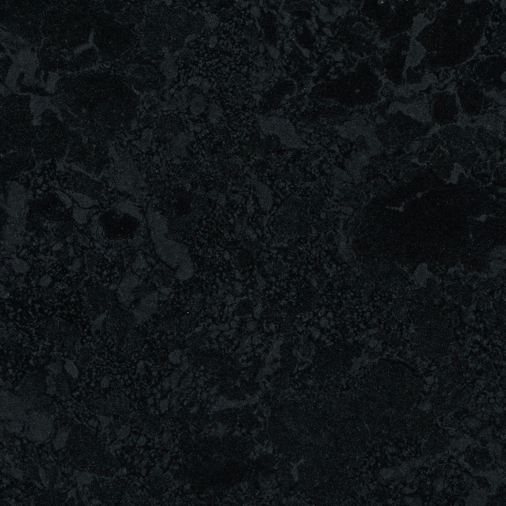 Bathroom worktops b q - 28mm Midnight Granite Black Gloss Stone Effect Round Edge Worktop L 2000mm D 365mm Departments Diy At B Q
