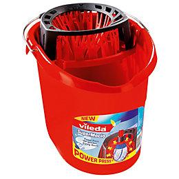Vileda Red Plastic 10 L Supermocio Bucket &