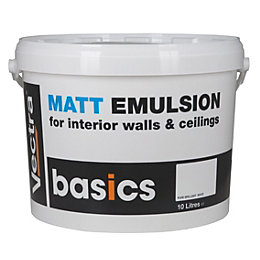 Vectra Basic White Matt Emulsion Paint 10L