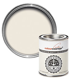 colourcourage Dusty Porcelain Matt Emulsion Paint 125ml Tester