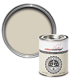 colourcourage Soft Grey Matt Emulsion Paint 125ml Tester