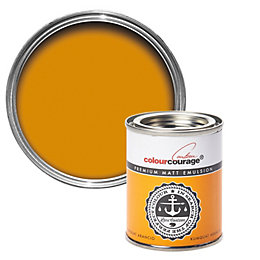 colourcourage Kumquat Arancio Matt Emulsion Paint 125ml Tester
