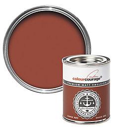 colourcourage Dansk Rød Matt Emulsion Paint 125ml Tester