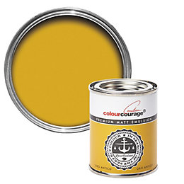 colourcourage Oro Antico Matt Emulsion Paint 125ml Tester