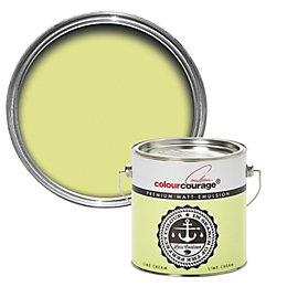 colourcourage Lime Cream Matt Emulsion Paint 2.5L