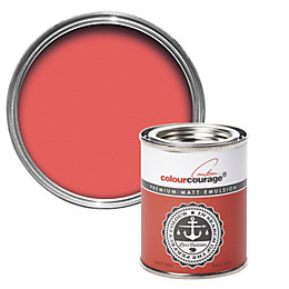 colourcourage Salt Red Matt Emulsion Paint 125ml Tester