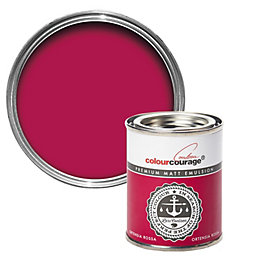 colourcourage Ortensia Rossa Matt Emulsion Paint 125ml Tester