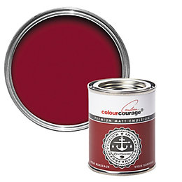 colourcourage Vieux Bordeaux Matt Emulsion Paint 125ml Tester