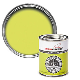 colourcourage Bergamot Squeeze Matt Emulsion Paint 125ml Tester