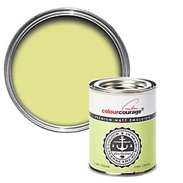 colourcourage Lime Cream Matt Emulsion Paint 125ml Tester