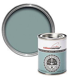 colourcourage Green Submarine Matt Emulsion Paint 125ml Tester