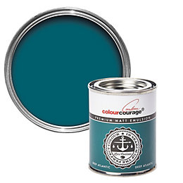 colourcourage Deep Atlantic Matt Emulsion Paint 125ml Tester