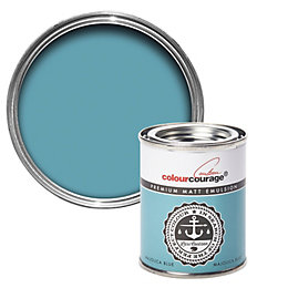 colourcourage Majolica Blue Matt Emulsion Paint 125ml Tester