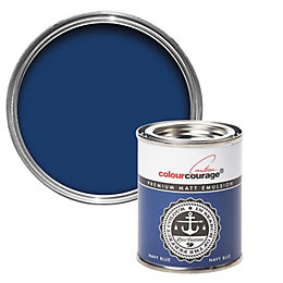 colourcourage Navy Blue Matt Emulsion Paint 0.125L Tester