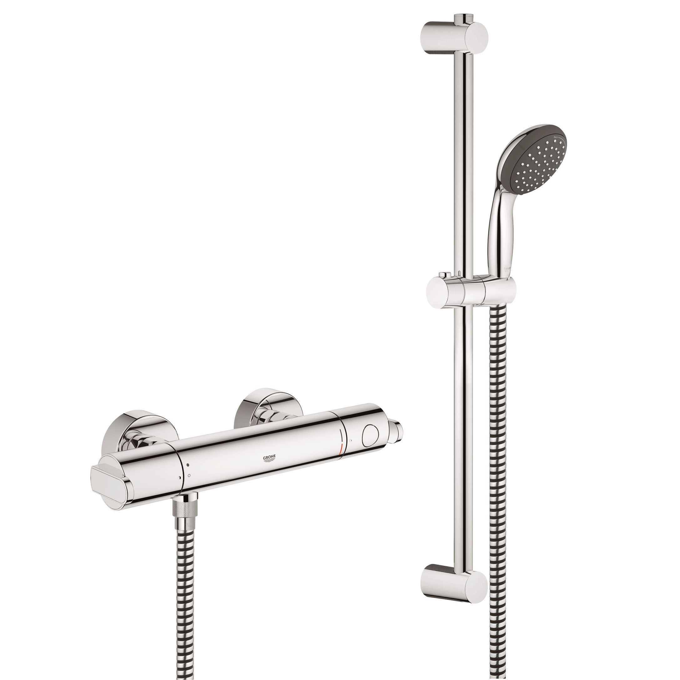 Grohe Get Rear Fed Chrome Thermostatic Bar Mixer Shower