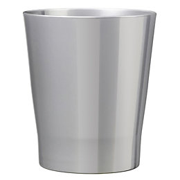 Merina Glazed Silver Gloss Plant Pot (H)240mm (Dia)240mm