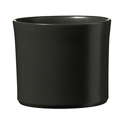 Miami Dark Grey Matt Plant Pot (H)15cm (Dia)18cm