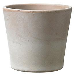 Dover Round Ceramic Mocca Plant Pot (H)27cm (Dia)29cm