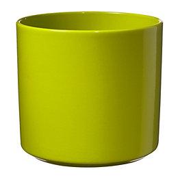 Las Vegas Round Ceramic Green Plant Pot (H)20cm