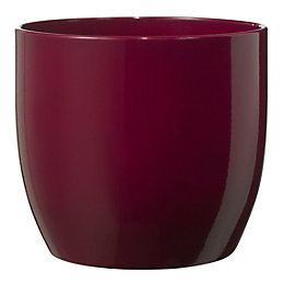 Basel Fashion Round Ceramic Lilac Plant Pot (H)130mm