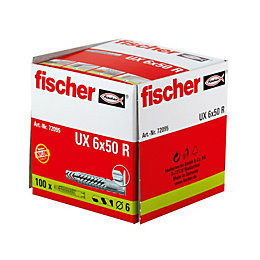 Fischer Nylon Multipurpose Plug, Pack of 100