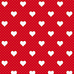 D-C-Fix Heart Red Self Adhesive Film (L)2m (W)45cm
