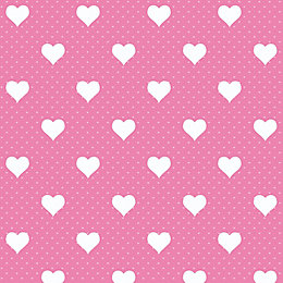 D-C-Fix Heart Pink Self Adhesive Film (L)2M (W)450mm