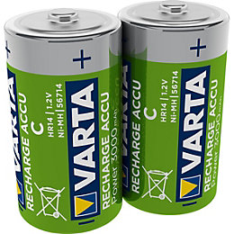 Varta Rechargeable D Battery 3000Mah, Pack of 2